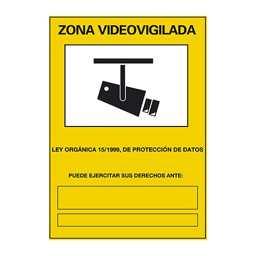 cartel zona videovigilada ref 14816473 leroy merlin