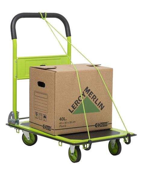 Carretilla de transporte standers acero plegable 150kg ref for Carretillas de mano leroy merlin