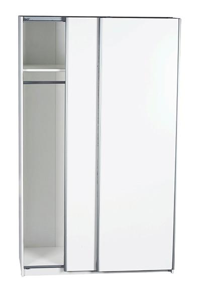 Armario ropero mallorca blanco 200x120x59 cm ref 16242905 for Outlet armarios roperos
