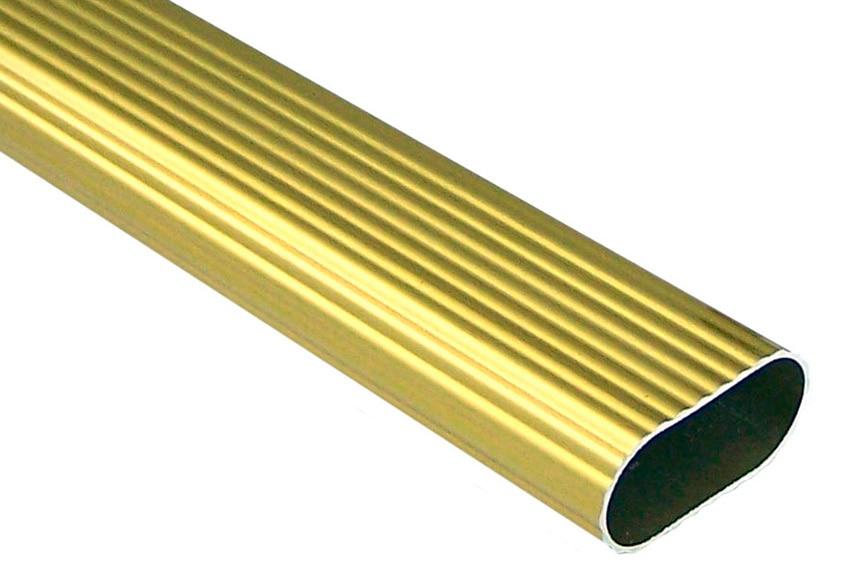 Barra de armario estriada barra oval oro ref 11958716 - Barras de armario ...