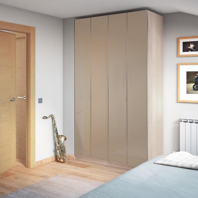 Puerta abatible spaceo botero ref 16319534 leroy merlin - Puertas abatibles para armarios empotrados ...