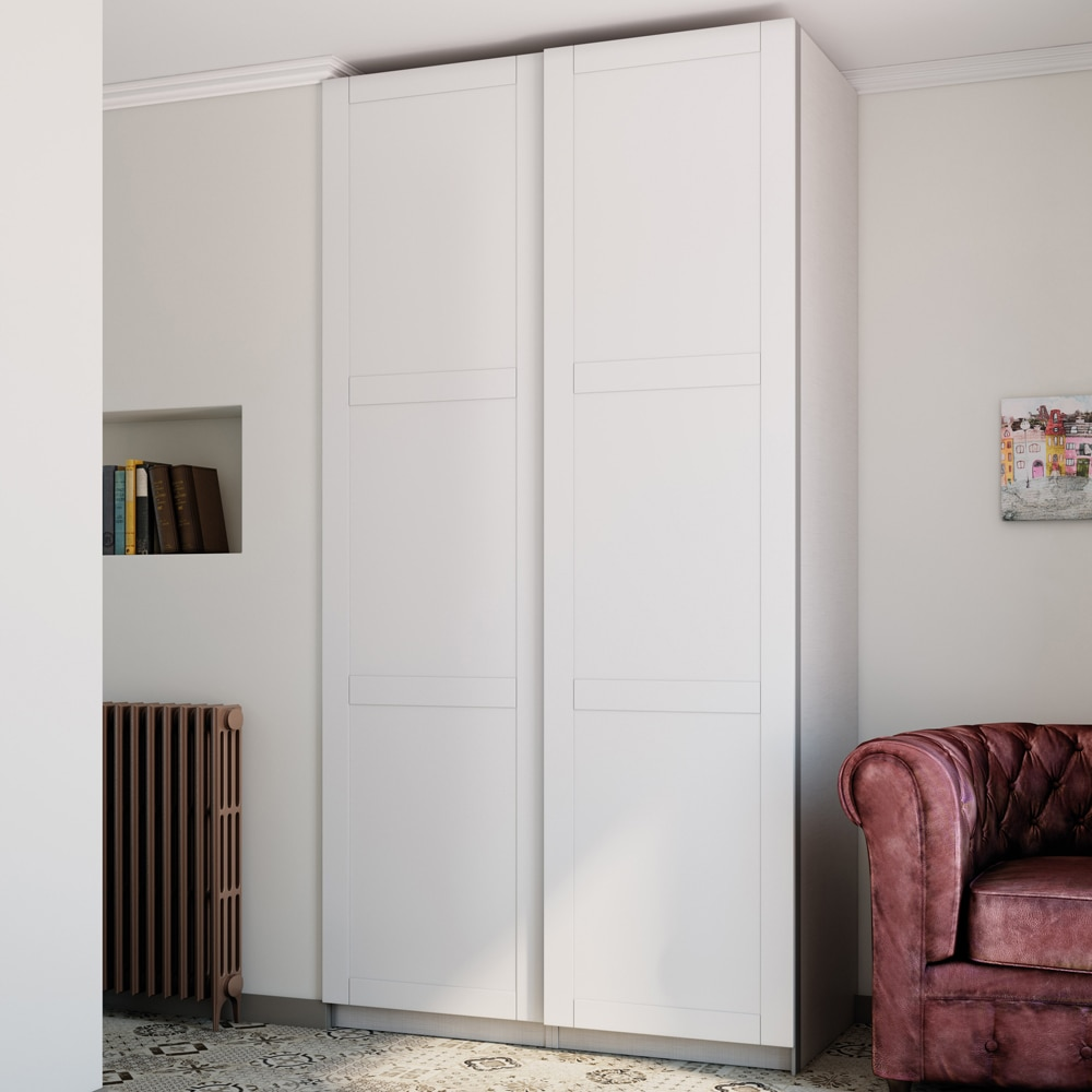 Puerta corredera de armario spaceo picasso ref 16319632 - Guia puerta corredera leroy merlin ...