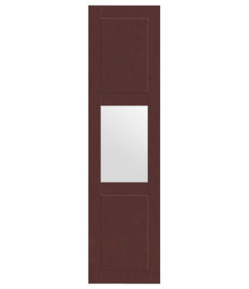 Puerta corredera de armario picasso cristal wengu ref - Puerta corredera cristal leroy ...