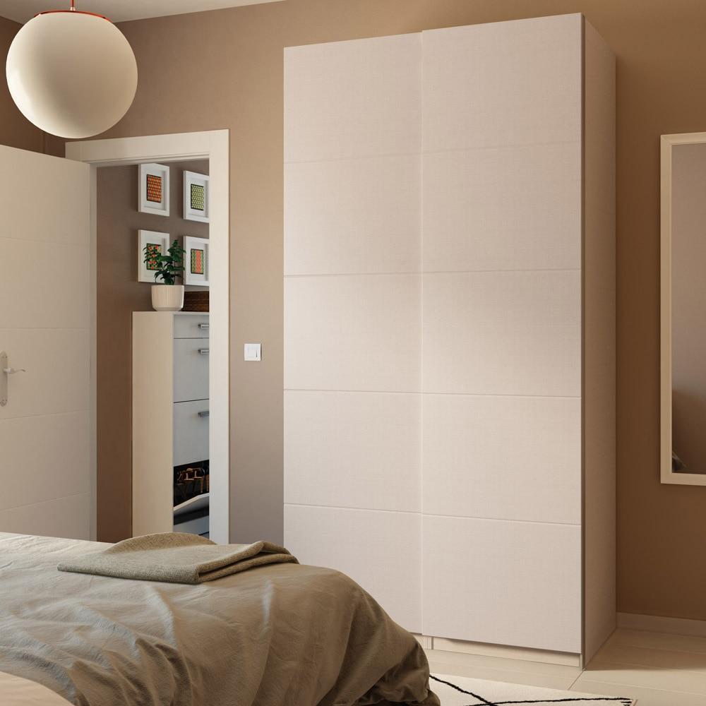 Puerta corredera de armario spaceo zurbar n ref 16319170 for Puertas correderas 60 cm