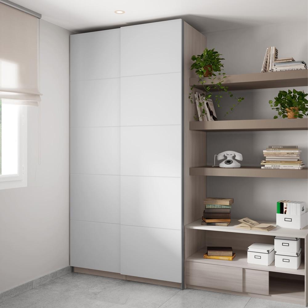 Puerta corredera de armario spaceo zurbar n ref 16319800 - Puertas de armario ...