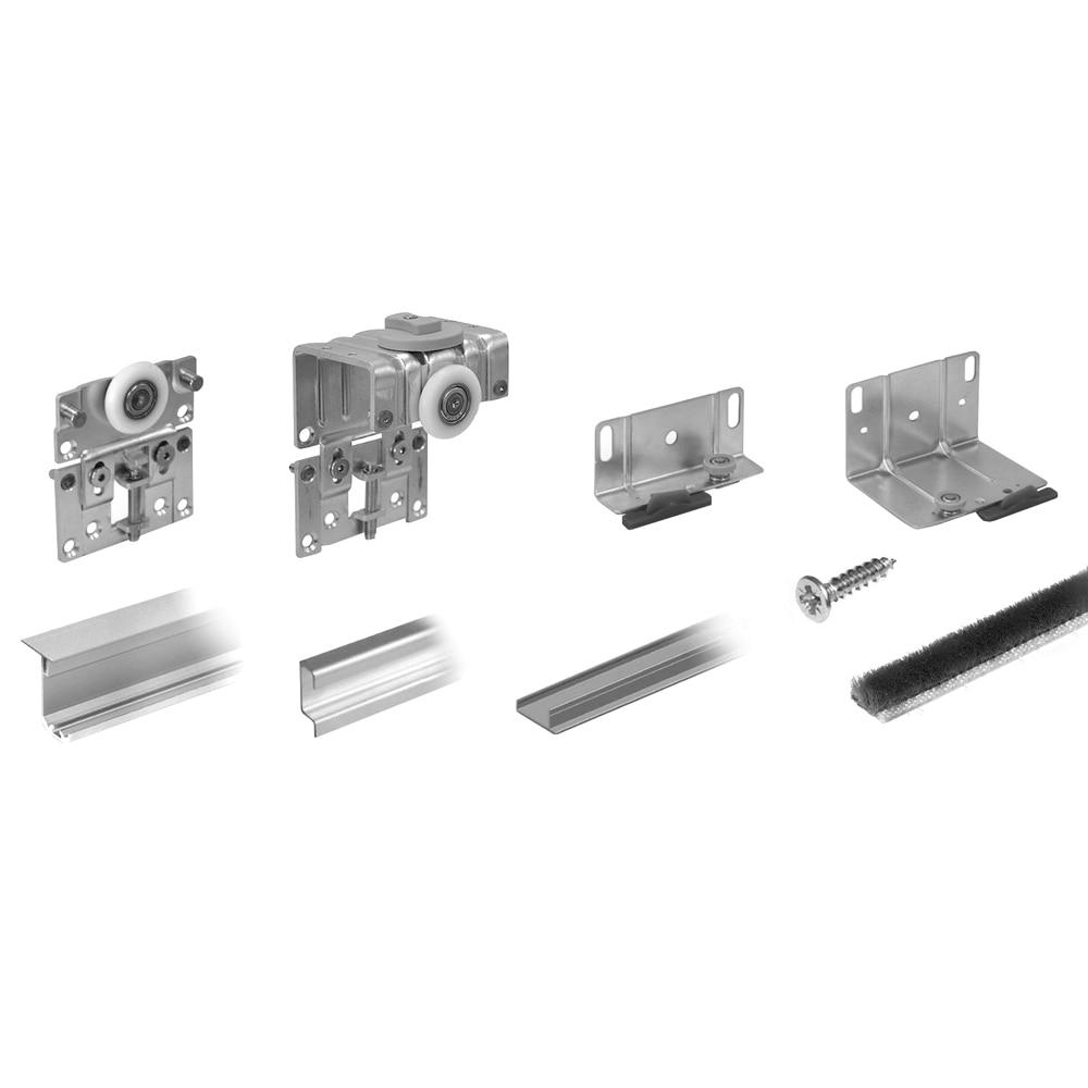 Kit de gu as apertura derecha de 120 cm para 2 puertas for Carriles de aluminio para toldos