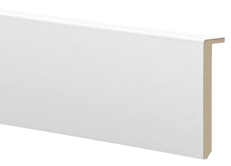 Cubre Zócalo Blanco Lacado 120x29x2400 Ref 15898960 Leroy Merlin