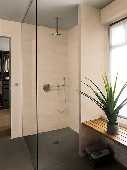 Revestimiento para pared de pvc attitude beige mate ref - Revestimiento paredes interiores leroy merlin ...