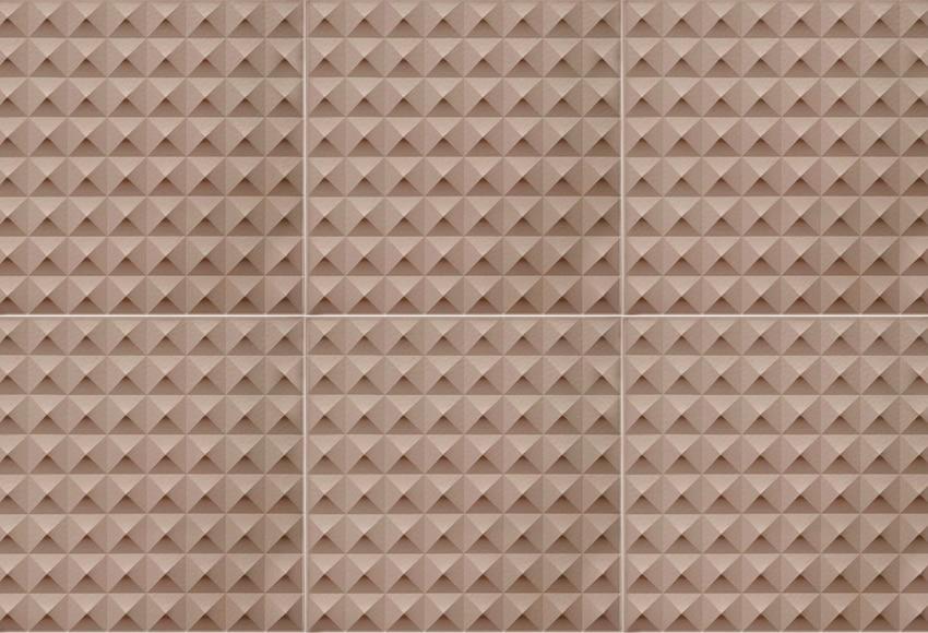 Revestimiento para pared de pvc fractal pvc piramids taupe for Revestimiento pvc leroy merlin