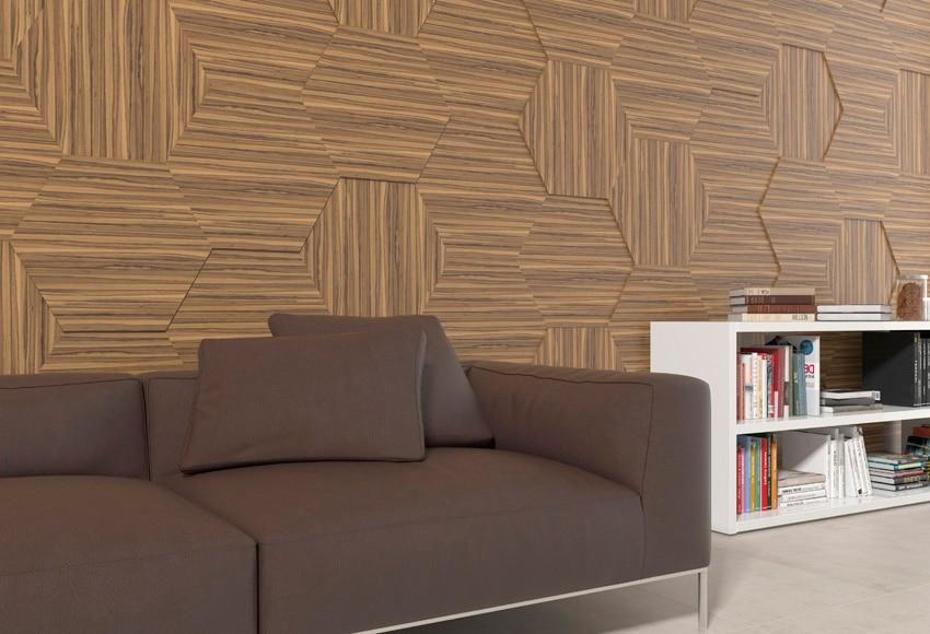 Revestimiento para pared de madera ebano luxury ref for Revestimiento en madera para pared