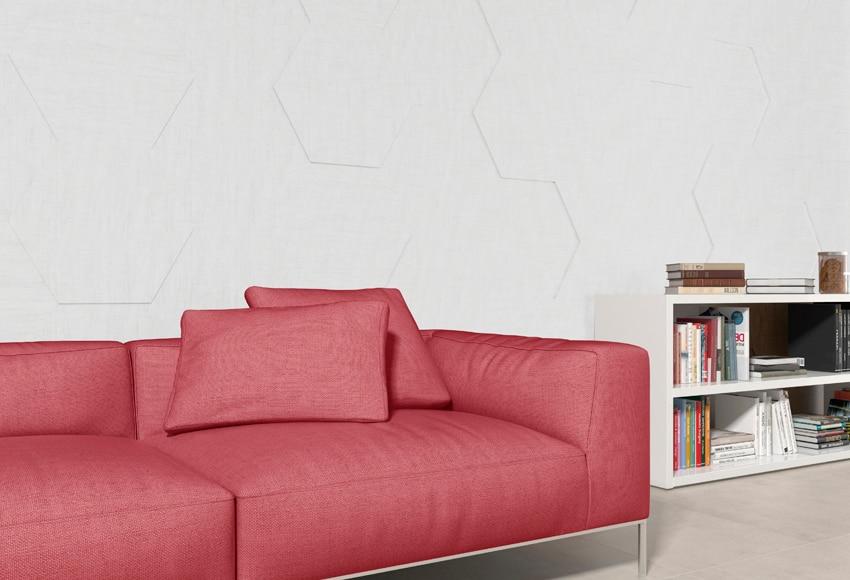 Revestimiento para pared de madera blanco textil ref - Revestimiento paredes interiores leroy merlin ...