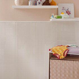 Revestimiento de pared pvc line ref 13188854 leroy merlin for Revestimiento adhesivo madera