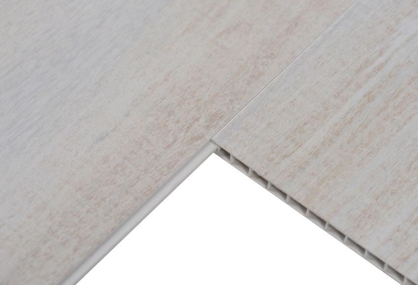 Revestimiento de pared pvc datcha blanco ref 17577112 for Rodapie pvc blanco