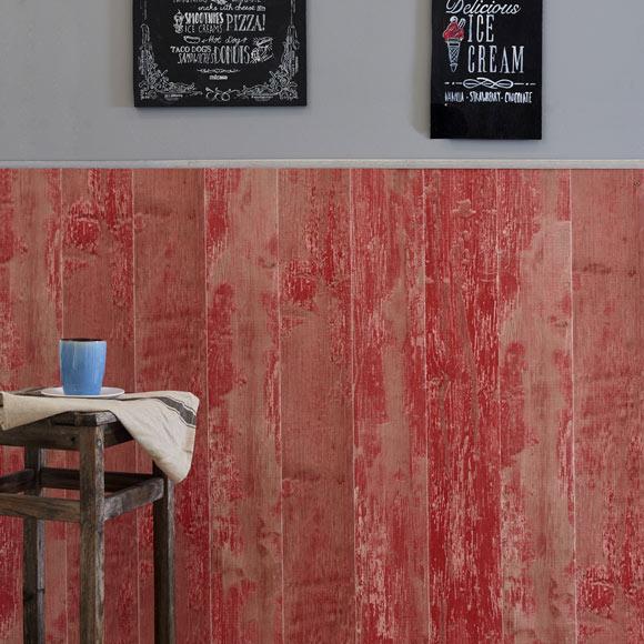 Revestimiento para pared de pvc cabane rojo ref 18575522 - Friso de pvc leroy merlin ...