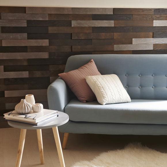 Revestimiento autoadhesivo de madera pino 3d negro ref - Revestimiento pared autoadhesivo ...