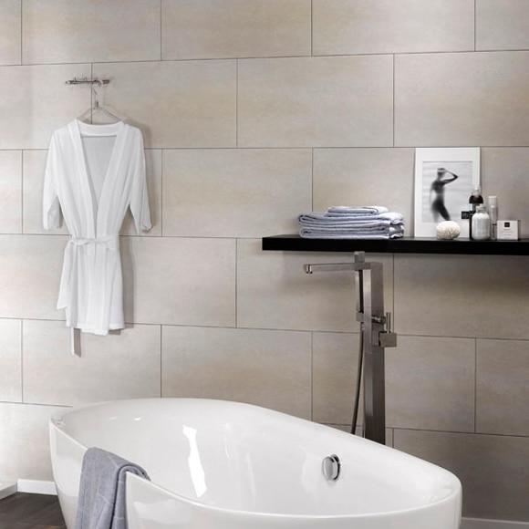 Revestimiento para pared de pvc dumawall beige ref for Revestimiento adhesivo bano