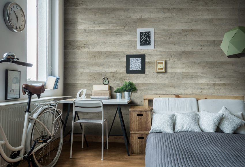 Revestimiento para pared de madera legacy wood ref for Paneles madera paredes interiores