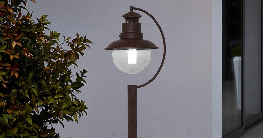 Faroles para jardines y exteriores farol iluminacin para for Faroles para jardin exterior