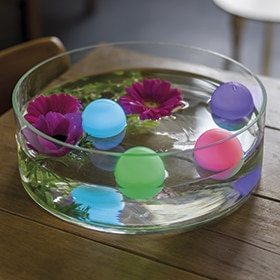Pack de 4 bolitas decorativas Kaemingk Flotante LED