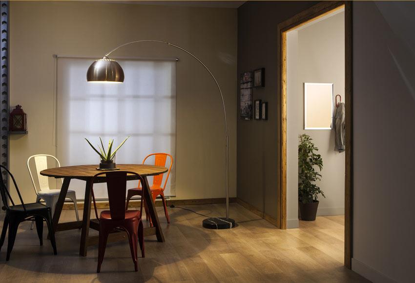 L mpara de pie inspire big sofa cromo ref 16006571 - Lamparas leroy merlin ...