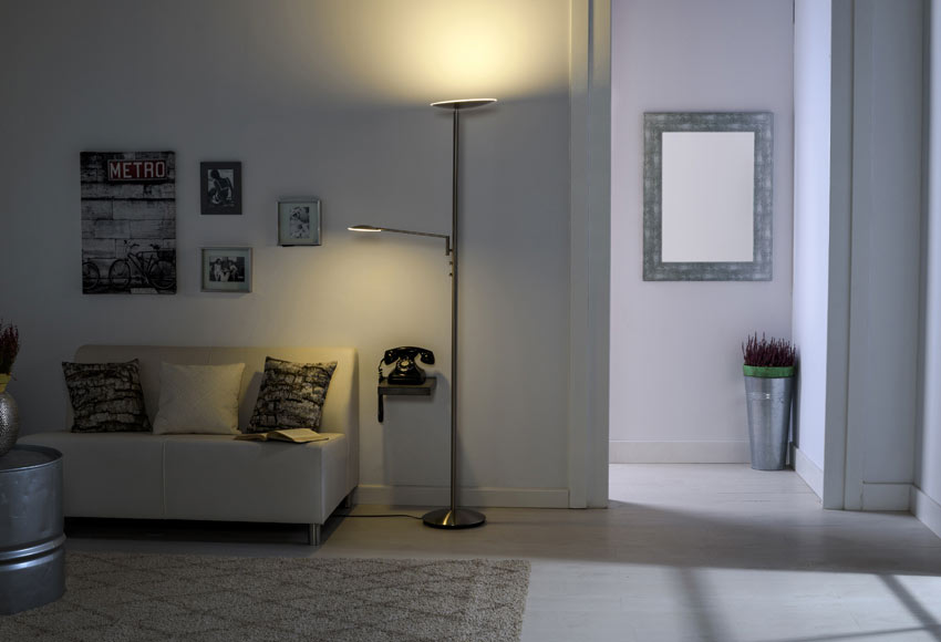 L mpara de pie led inspire nenufar ref 17669715 leroy - Lamparas para salones modernos ...