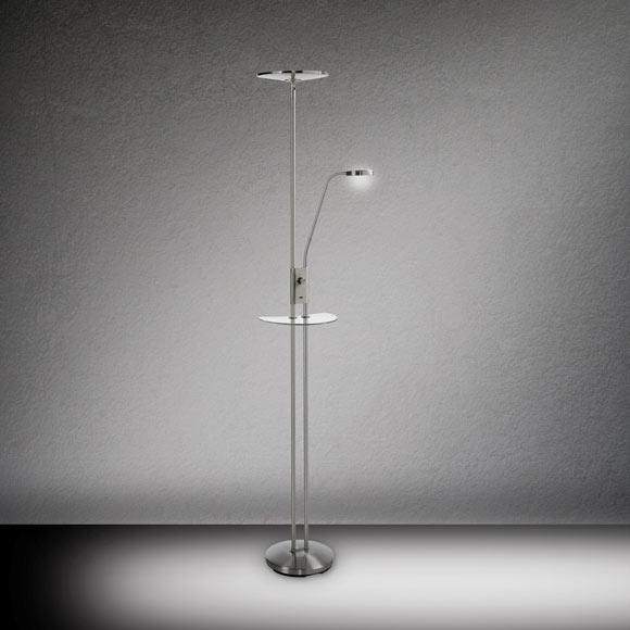 L mpara de pie duomo cromo led ref 19121592 leroy merlin - Leroy lamparas de pie ...