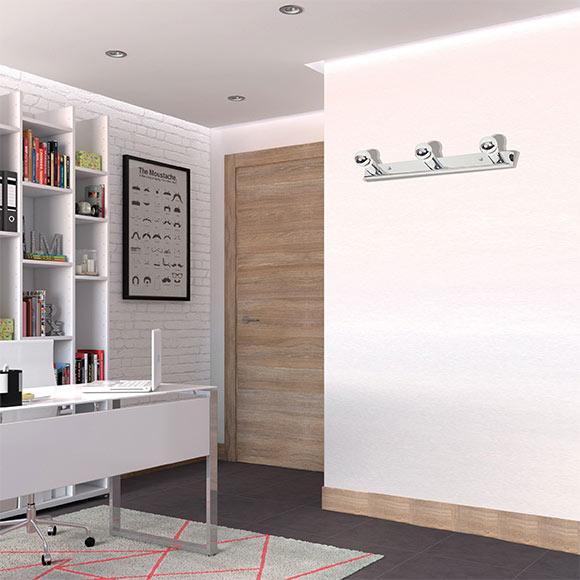 Aplique baño 3 luces cromo CAMERINO Ref. 13479200 - Leroy Merlin