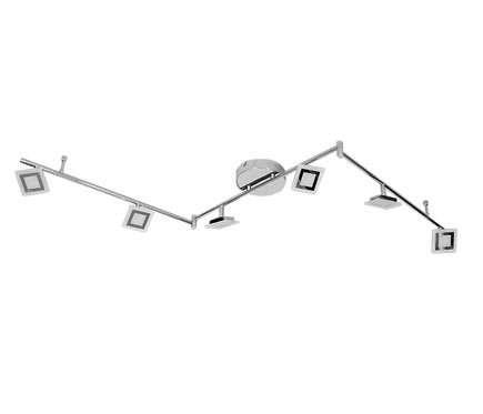 forma de 6 luces wofi serie cholet cromo ref 19332803. Black Bedroom Furniture Sets. Home Design Ideas