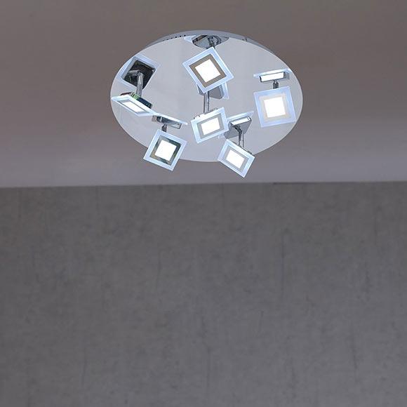 plaf n de 6 luces wofi serie cholet cromo ref 19332831. Black Bedroom Furniture Sets. Home Design Ideas