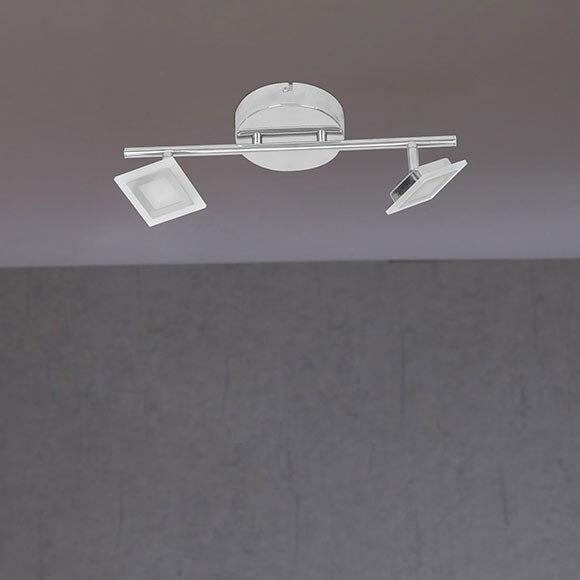 barra de 2 luces wofi serie cholet cromo ref 19333020. Black Bedroom Furniture Sets. Home Design Ideas