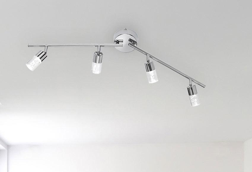 Forma de 4 luces serie lugo cromo ref 17890705 leroy merlin for Luces leroy merlin
