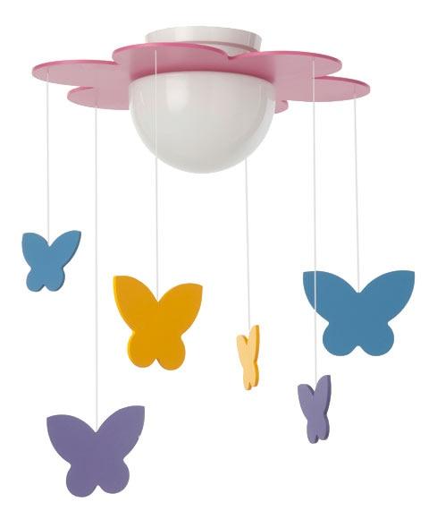 L mpara mariposas ref 13125133 leroy merlin - Lamparas infantiles leroy merlin ...