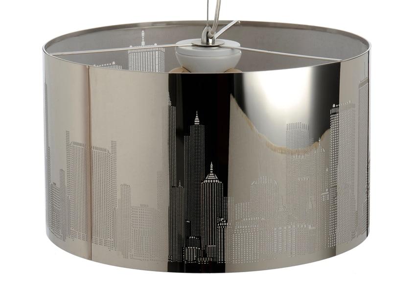 Lampara de colgar nueva york cromo 3 luces ref 15177015 for Luces leroy merlin