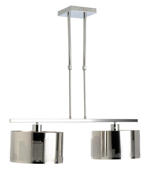 Lampara de colgar nueva york cromo 2 luces ref 15868265 for Luces leroy merlin
