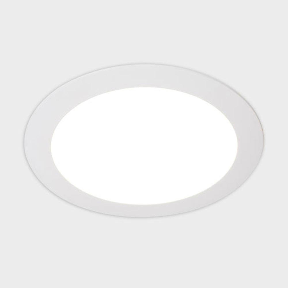 pack 2 focos led exterior redondo blanco ref 17465140