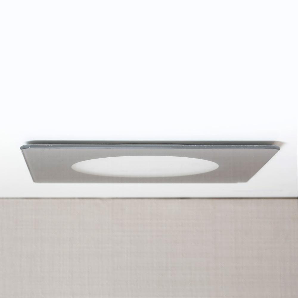 Foco led novo cristal cuadrado gris ref 17465014 leroy - Focos led exterior leroy merlin ...