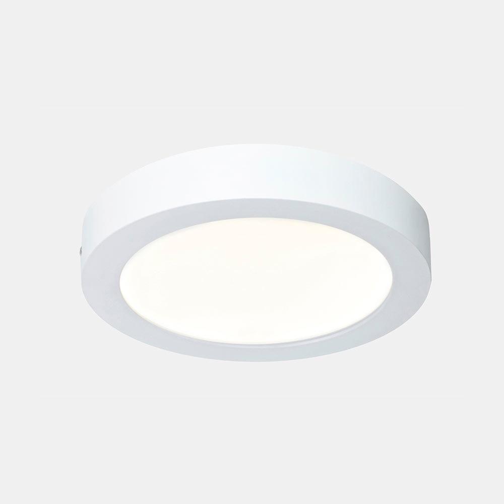 Foco downlight serie fueva redondo blanco ref 17543981 for Downlight leroy merlin