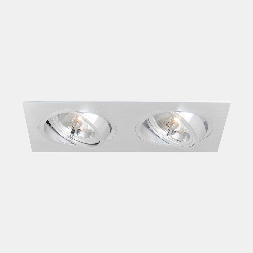 Foco de 2 luces cristalrecord serie kardan aluminio ref for Luces leroy merlin