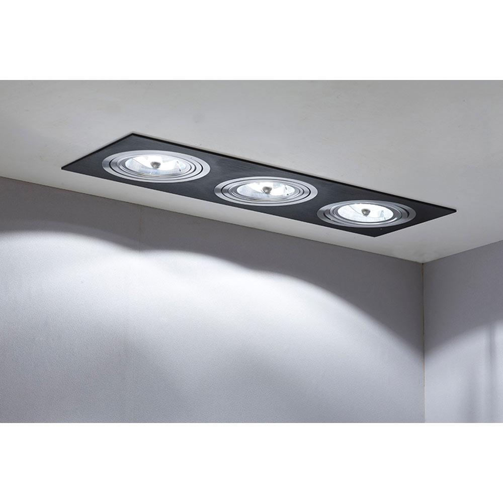 Foco de 3 luces cristalrecord serie kardan negro ref - Focos de techo leroy merlin ...