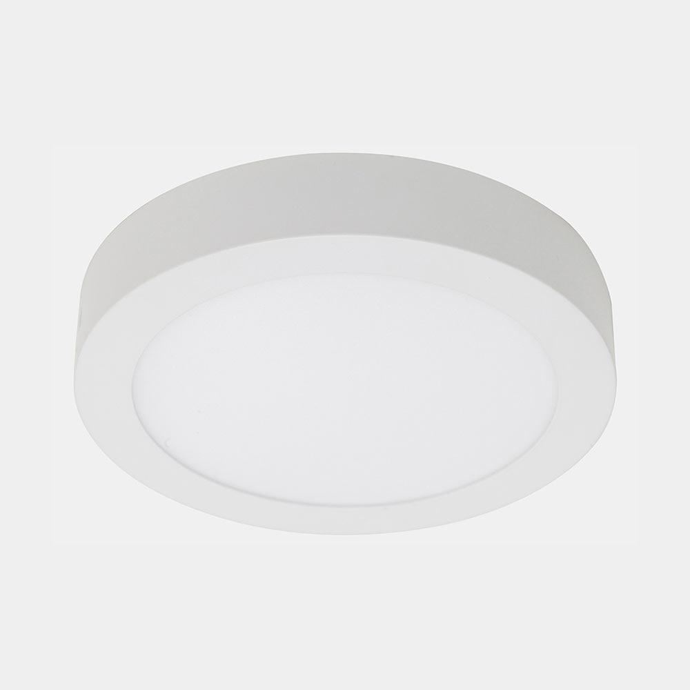 Foco downlight serie novo plus superficie redondo blanco for Downlight leroy merlin