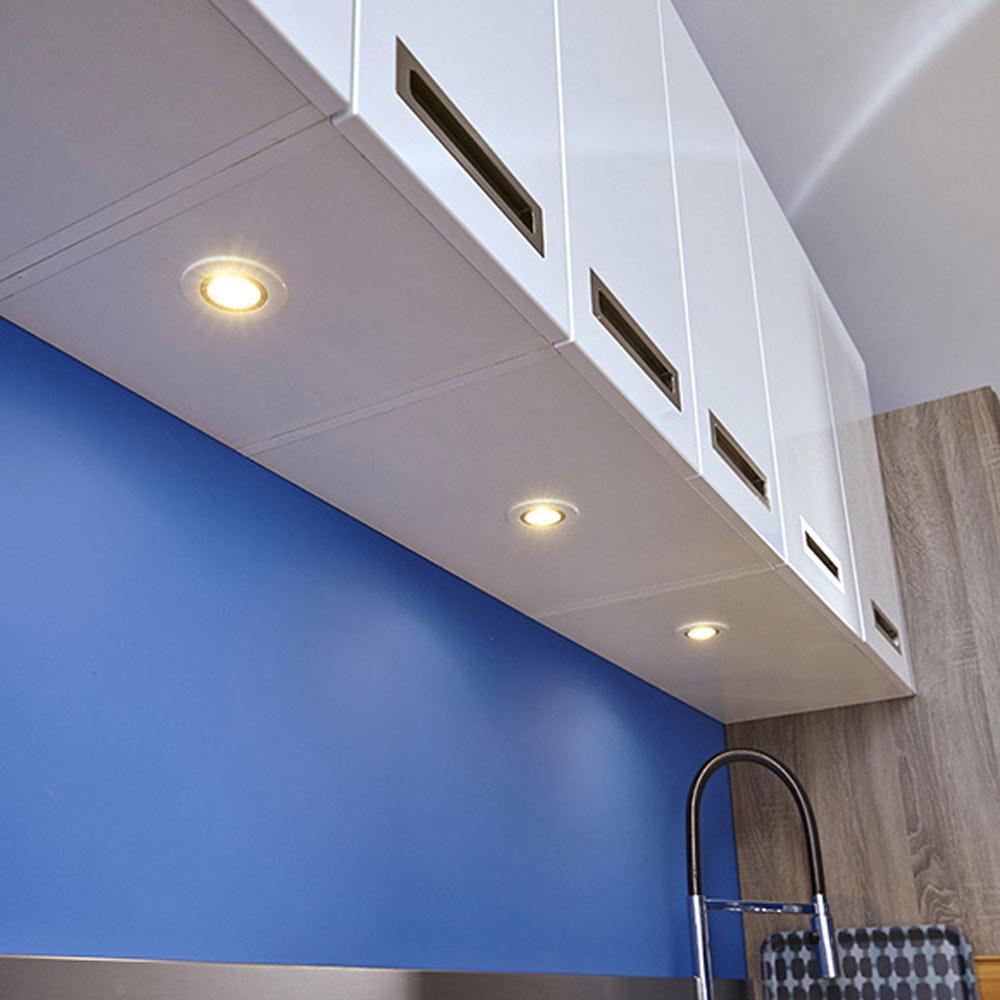 Pack de 3 focos inspire serie optima redondo blanco ref - Focos piscina leroy merlin ...