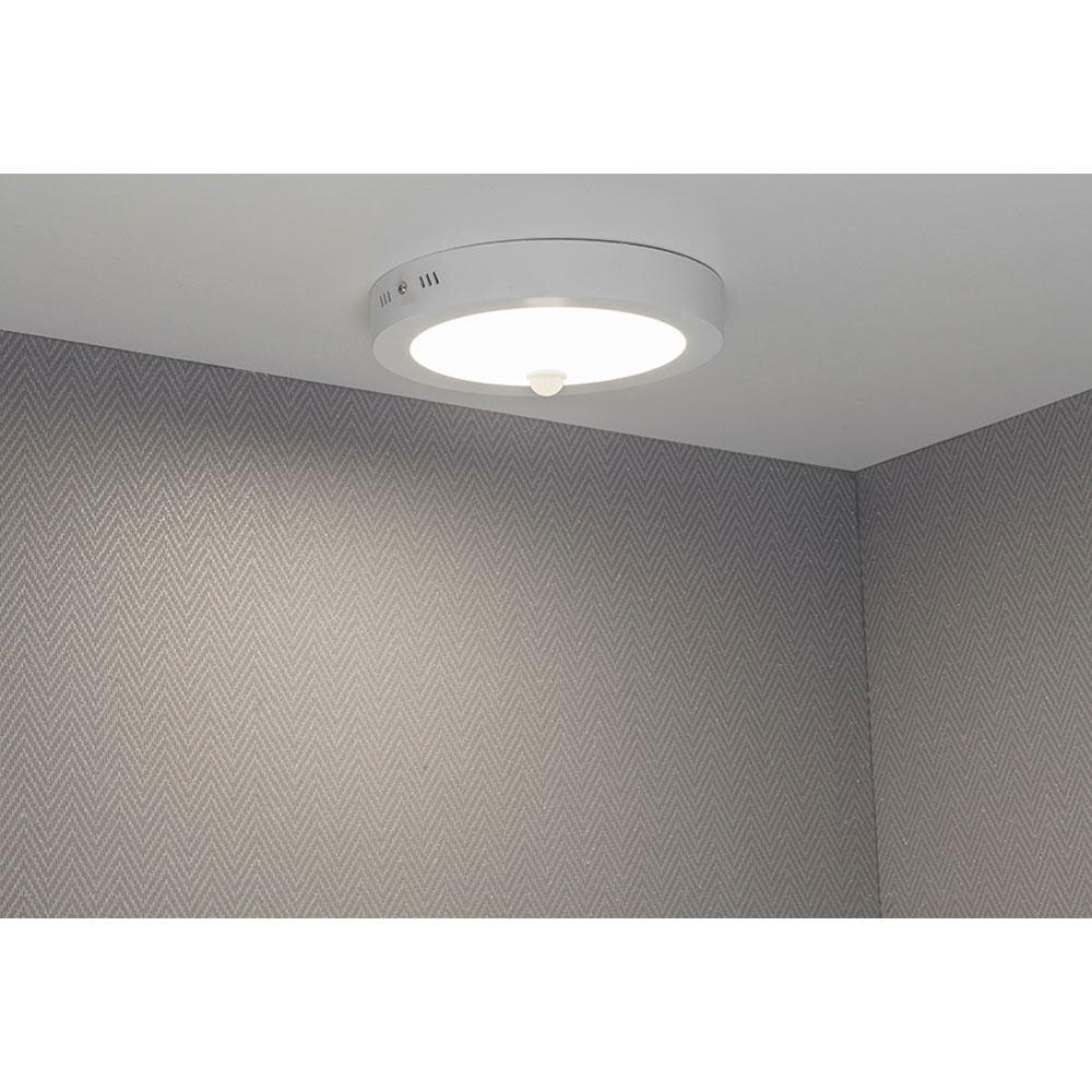 Foco downlight serie superficie blanco con detector ref for Downlight leroy merlin