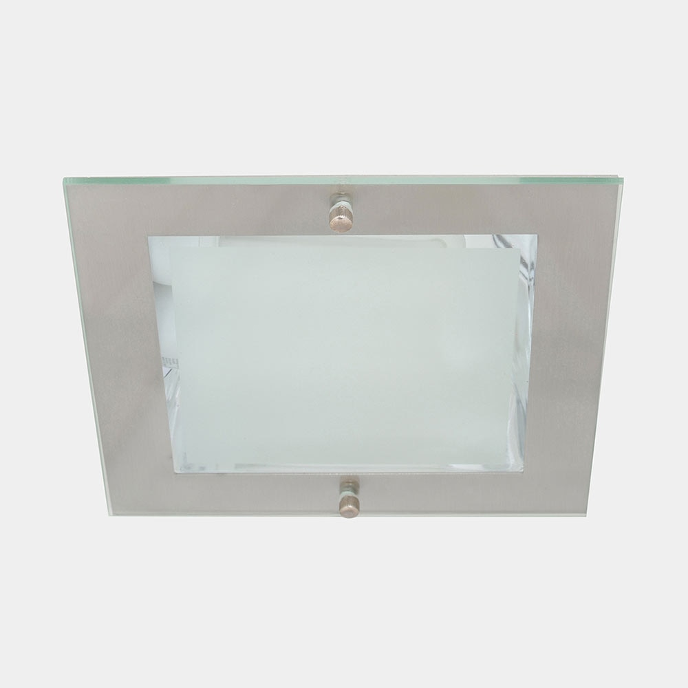 Foco downlight serie tellus cuadrado cromo pulido ref for Downlight leroy merlin