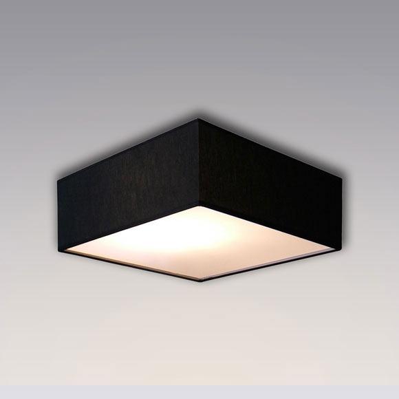Plaf n 2 luces pantalla negro ref 15634206 leroy merlin for Luces leroy merlin