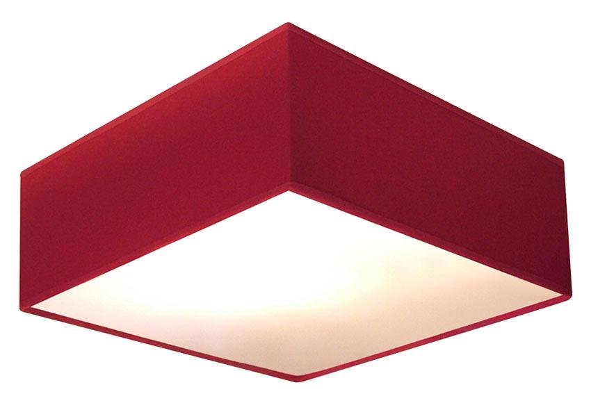 Plaf n 2 luces pantalla rojo ref 15634283 leroy merlin for Luces leroy merlin