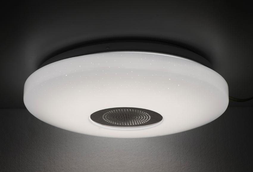 Plaf n 1 luz inspire vizzini led ip44 altavoz ref for Panel led leroy merlin