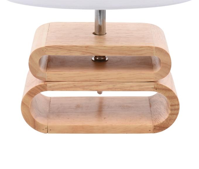 L mpara de sobremesa madera y lino ref 17597902 leroy - Lamparas de mesa originales ...