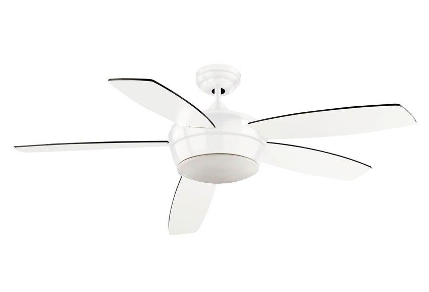 ventilador de techo con luz leds c4 salgar blanco ref 16442902 leroy merlin. Black Bedroom Furniture Sets. Home Design Ideas