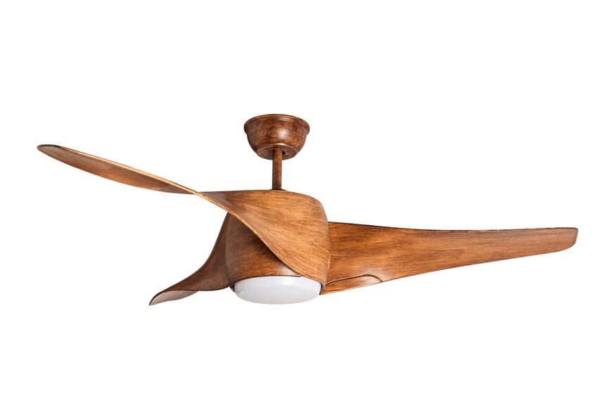 Ventilador de techo con luz led sulion madera ref - Luz de techo ...