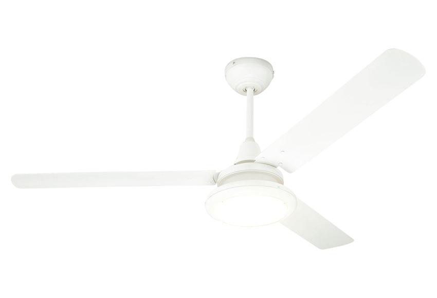 Ventilador de techo con luz led inspire breva blanco ref for Ventilador de techo blanco con luz